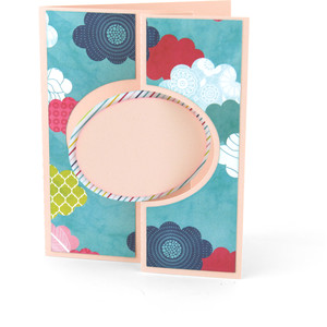 flip flap card oval