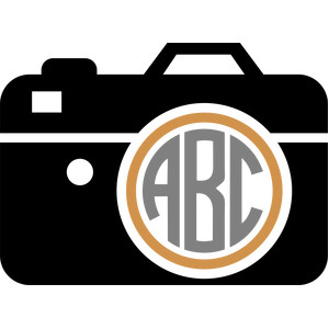 photographic camera monogram