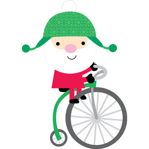 santa on bike - here comes santa claus