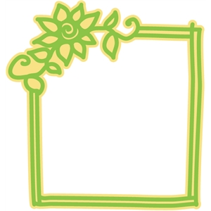 frame with flower and vine