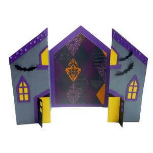a6 haunted house card