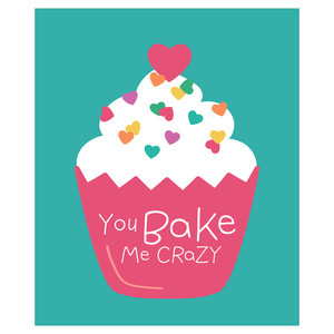 bake me crazy valentine card