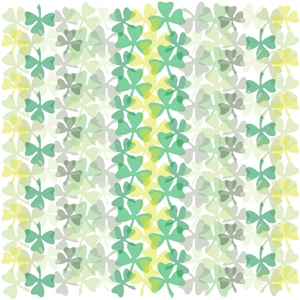 shamrock pattern white