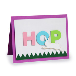 a2 hop folded card