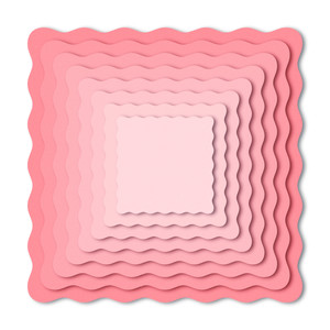 nested wavy squares