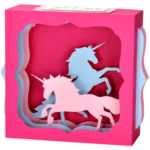 unicorn gift card box