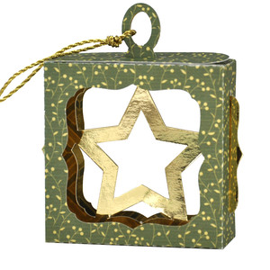christmas star hanging ornament box