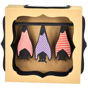 hanging bat gift card box ornament