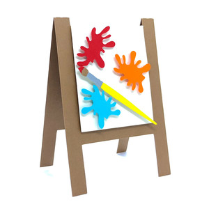 painting easel card
