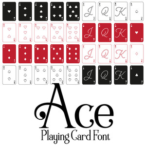 ace playing card font