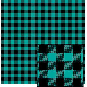 teal buffalo plaid pattern