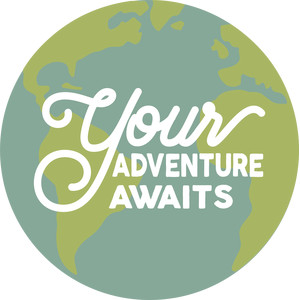 your adventure awaits globe