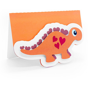 dinosaur love hearts card