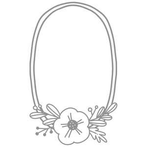 simple flower oval wreath