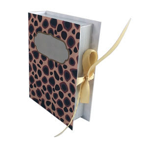 animal print, looks like a book, box
