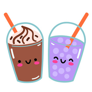 ice mocha and bubble tea