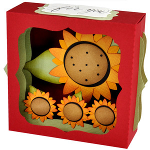 sunflower gift card box