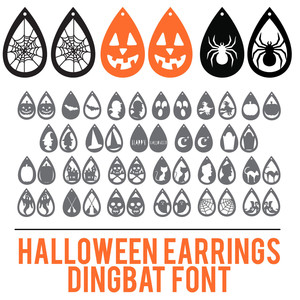 halloween earrings dingbat font