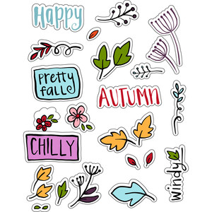 ml chilly autumn stickers