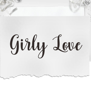 girly love font