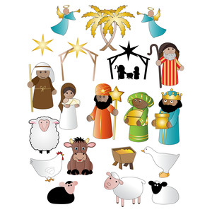 nativity christmas stickers