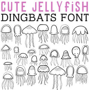 cg cute jellyfish dingbats