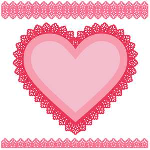 doily heart border set