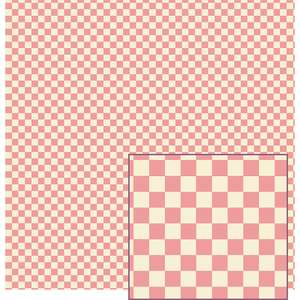pink and cream gingham pattern