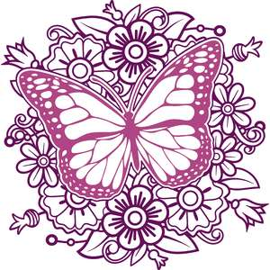 butterfly flower mandala