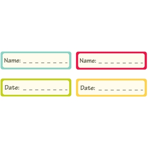 name and date labels