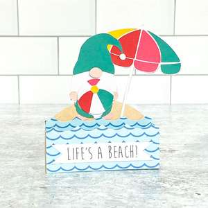 box card beach gnome