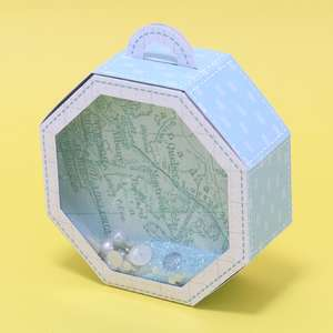 octagonal box with handle and window