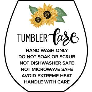 wine tumbler sunflower care card