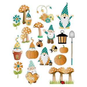 autumn gnomes planning stickers