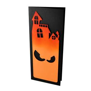 haunted house slim stencil card