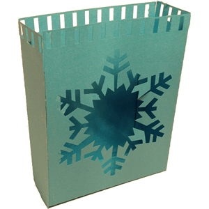 large snow flake luminaria