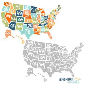 us map & printable stickers