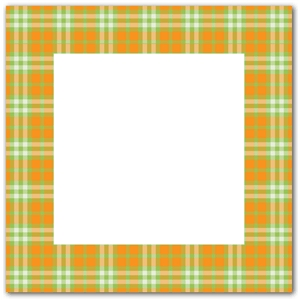 orange green plaid frame