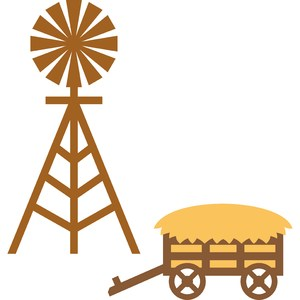 windmill and straw wagon farm