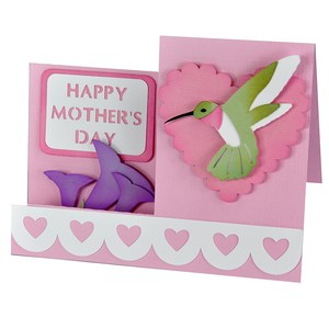 happy mother's day hummingbird side step card