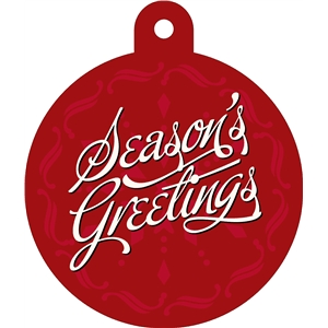'season's greetings' print & cut tag