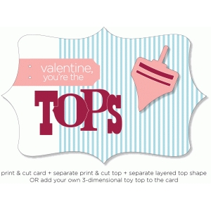 valentine tops - 3d card series