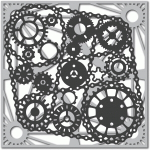 bicycle chain and cogs