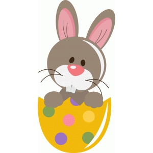 cute easter bunny in egg