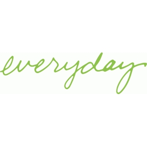 'everyday' handwritten phrase