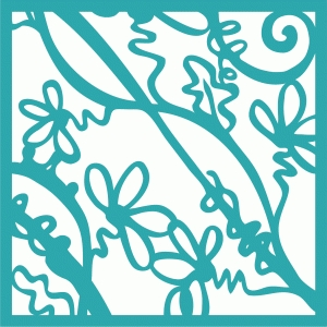 flower vine tile