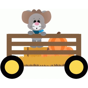 mouse in wagon hayride