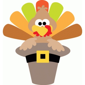turkey in pilgrim hat
