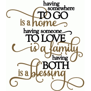 home, family, blessing - vinyl phrase