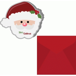 santa claus shape card with envelope